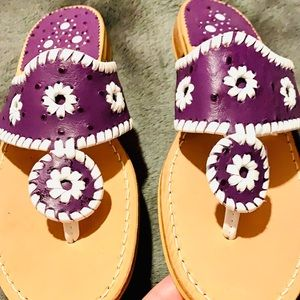 Jack Rogers Womens Flip Flops Thong Sandals Purple